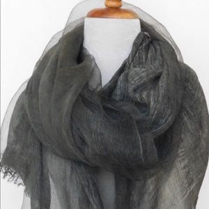 Accessories - New in bag Silk & Cotton Olive colored scarf